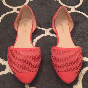 NWOT Restricted 9 1/2 Coral Flats
